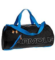 Under Armour UA Adaptable Duffle Zaino, Black/Jet Blue