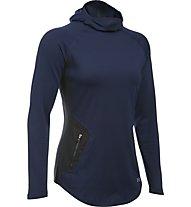 Under Armour UA Balaclava - maglia running donna, Dark Blue