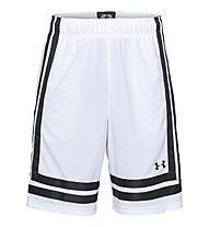 """Under Armour UA Baseline 10"""" - pantaloni basket - uomo, White"""