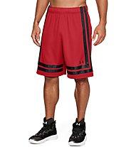 """Under Armour UA Baseline 10"""" - pantaloni basket - uomo, Red"""