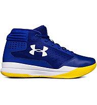 Under Armour Basket Grade School Jet 2017 - scarpe da basket - ragazzo, Blue/Yellow
