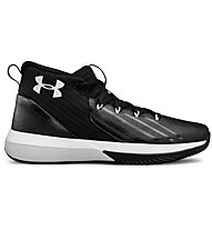 Under Armour UA BGS Lockdown 3 - Basketballschuhe - Kinder, Black/White
