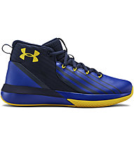 Under Armour UA BGS Lockdown 3 - Basketballschuhe - Kinder, Blue/Yellow