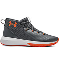 Under Armour UA BGS Lockdown 3 - Basketballschuhe - Kinder, Grey/Orange