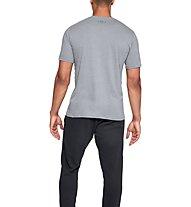 Under Armour UA Boxed Sportstyle - T-Shirt - Herren, Grey/Black