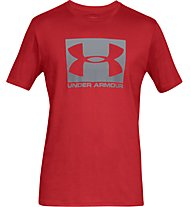 Under Armour UA Boxed Sportstyle - T-Shirt - Herren, Red/White