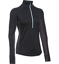 Under Armour UA ColdGear 1/2 Reißverschluss - Trainingsshirt Damen, Black/Heather Grey