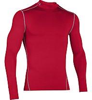 Under Armour UA Coldgear Armour Compression Mock - Kompressionsshirt Langarm, Red