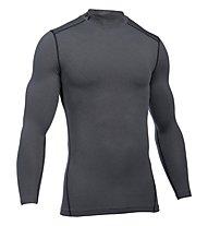 Under Armour UA Coldgear Armour Compression Mock - Kompressionsshirt Langarm - Herren, Grey