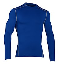 Under Armour UA Coldgear Armour Compression Mock - Kompressionsshirt Langarm - Herren, Blue