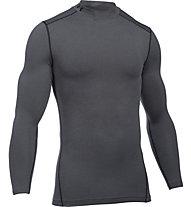 Under Armour UA Coldgear Armour Compression Mock - Kompressionsshirt Langarm - Herren, Dark Grey