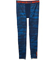 Under Armour UA Coldgear Armour Printed Compression Legging, Academy/Bolt Orange
