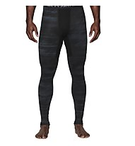 Under Armour UA Coldgear Armour Printed Compression Legging, Black/Steel