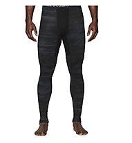 Under Armour Coldgear Armour Printed Compression Legging, Black/Steel