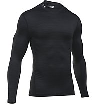 Under Armour Mock-Shirt UA ColdGear Armour Twist Kompressionsshirt Herren, Black