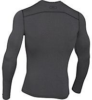 Under Armour UA ColdGear Armour maglia a compressione, Carbon Heather Grey