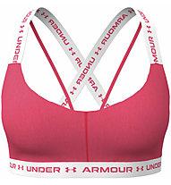 Under Armour UA Crossback Low - Sport-BH - Damen, Pink/White