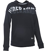 Under Armour UA Favorite Fleece Felpa con cappuccio fitness ragazza, Black