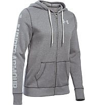 Under Armour UA Favorite Fleece Full Zip - Kapuzenjacke - Damen, Carbon Heather Grey