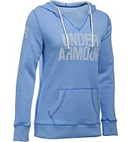 Under Armour Favorite Popover Fleece Word Mark Kapuzenpullover Damen, Light Blue