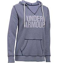 Under Armour UA Favorite Fleece Word Mark Popover Felpa con cappuccio fitness donna, Blue