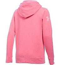 Under Armour UA Favorite Fleece Word Mark Popover - Felpa con cappuccio fitness - donna, Pink