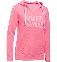 Under Armour Favorite Popover Fleece Word Mark Kapuzenpullover Damen, Pink