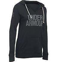 Under Armour UA Favorite Fleece Word Mark Popover - Felpa con cappuccio fitness - donna, Black