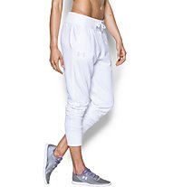 Under Armour UA Favorite French Terry Jogger Pantaloni lunghi fitness donna, White