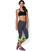 Under Armour UA Fly-By Compression Damen-Capri, Phantom Grey/Light Green