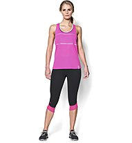 Under Armour UA Fly-By Compression Damen-Capri, Black/Pink