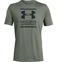 Under Armour UA GL Foundation SS T - T-shirt fitness - uomo, Green