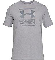 Under Armour UA GL Foundation SS T - T-shirt fitness - uomo, Light Grey