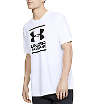 Under Armour GL Foundation SS T - T-shirt fitness - uomo, White/Black