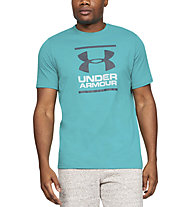 Under Armour UA GL Foundation SS T - T-shirt fitness - uomo, Azure