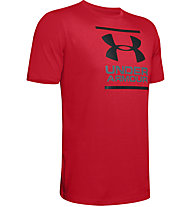 Under Armour UA GL Foundation SS T - T-shirt fitness - uomo, Red/Black