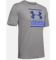 Under Armour GL Foundation SS T - T-shirt fitness - uomo, Grey/Light Blue