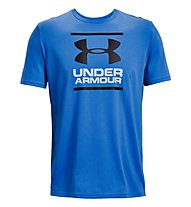 Under Armour GL Foundation SS T - T-shirt fitness - uomo, Light Blue/White/Black