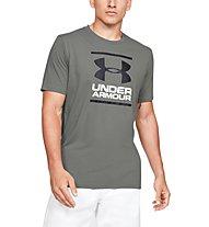 Under Armour GL Foundation SS T - T-shirt fitness - uomo, Grey/Black/White