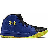 Under Armour Grade School Jet 2019 - scarpe da basket - ragazzo, Blue/Yellow