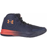 Under Armour Grade School Jet 2019 - scarpe da basket - ragazzo, Dark Blue/Red