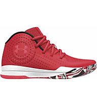 Under Armour Grade School Jet 2019 - scarpe da basket - ragazzo, Red/White