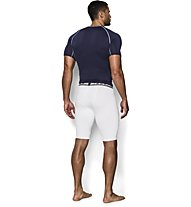 Under Armour UA HeatGear Armour Compression Herren Kompressionshose kurz, White