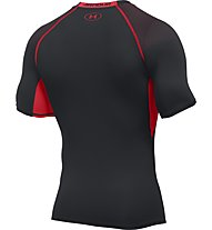 Under Armour UA HeatGear Armour Printed Compression Herren Kompressionsshirt kurz, Black