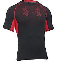 Under Armour UA HeatGear Armour Printed Compression T-Shirt fitness, Black