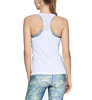 Under Armour UA HeatGear Racer - canotta fitness - donna, White