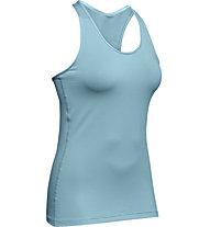 Under Armour UA HeatGear Racer - Top Training - Damen, Light Blue