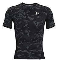 Under Armour UA HG Armour Camo Comp SS - Trainingshirt - Herren, Black