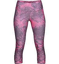 Under Armour HeatGear Armour Capri Print - Traininghose - Damen, Pink