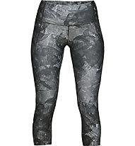 Under Armour HeatGear Armour Capri Print - Traininghose - Damen, Dark Grey